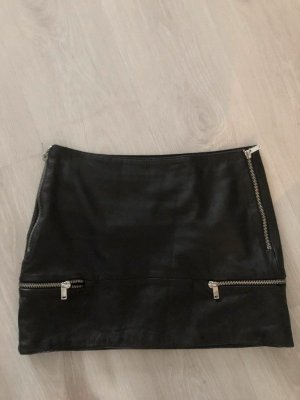 Zara Gonna in pelle nero Pelle