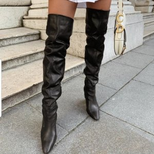 Zara Laarzen met hoge hakken zwart