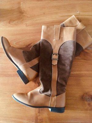 Zara Botas de equitación coñac-marrón claro