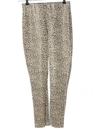 Zara Leggings creme-schwarz Allover-Druck Casual-Look