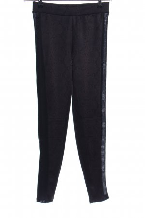 Zara Leggings schwarz-braun Animalmuster Casual-Look
