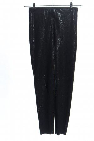 Zara Leggings schwarz Allover-Druck Casual-Look