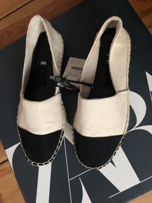 Zara Espadrille blanc-noir