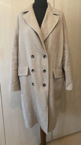 Zara Manteau oversized gris brun-beige