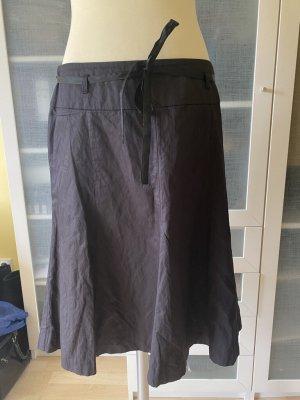 Zara Woman Linen Skirt black brown linen