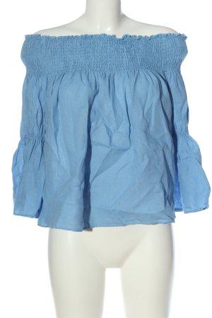 Zara Leinenbluse blau Casual-Look