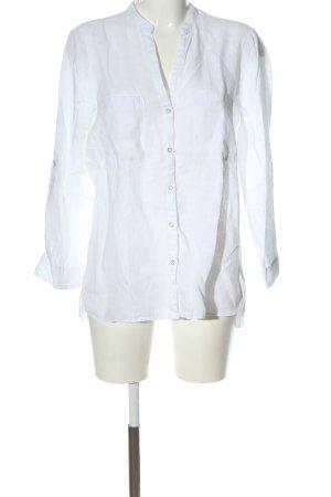 Zara Blusa de lino blanco estilo «business»
