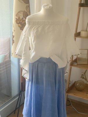 Zara Woman Bluzka typu carmen biały