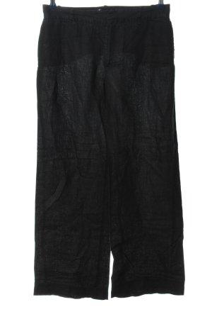 Zara Pantalon en lin noir style décontracté