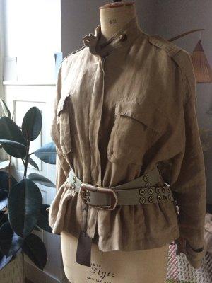 Zara Leinenjacke mit aufgesetzten Taschen, neuwertig, Gr. M