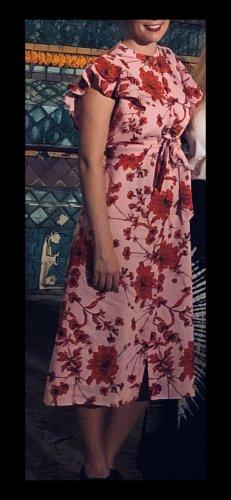 Zara Leinenkleid Blumenmuster