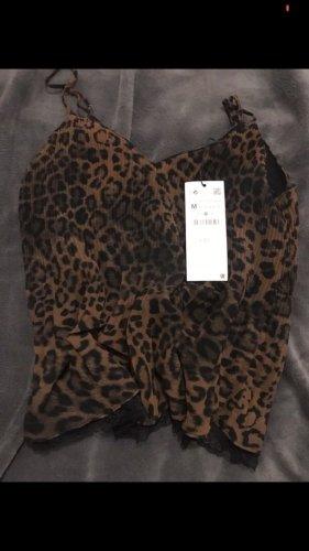 Zara Leo Print Shirt top