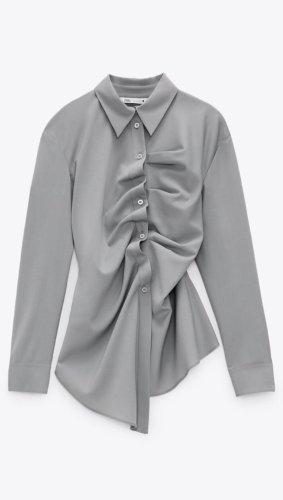 ZARA Limited Bluse Blogger gr xs grau neu mit Etikett