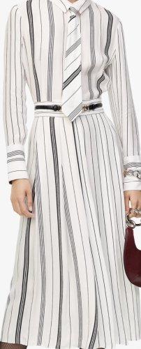 Zara Midi Dress white-black