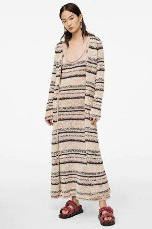 Zara Studio Manteau long multicolore coton