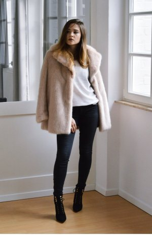 Zara Limited faux fur Mantel coat