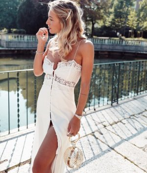 ZARA Lingerie Dress Maxikleid Lace Spitze Trend Blogger Musthave