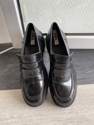Zara Zapatos estilo Oxford negro