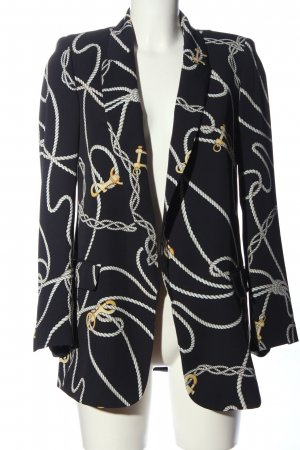 Zara Long-Blazer Allover-Druck Casual-Look