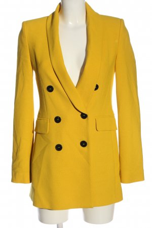 Zara Blazer largo amarillo pálido estilo «business»