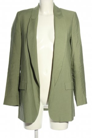 Zara Long-Blazer grün Casual-Look