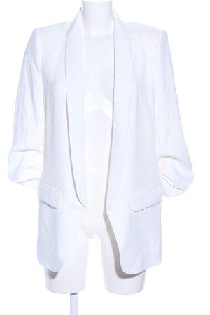 Zara Lange blazer wit casual uitstraling