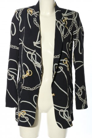 Zara Long-Blazer Allover-Druck Casual-Look
