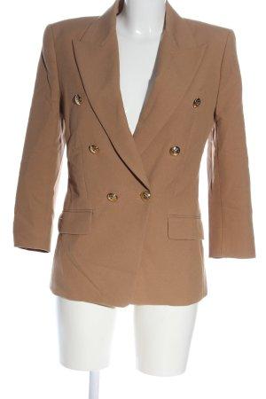 Zara Long-Blazer braun Business-Look
