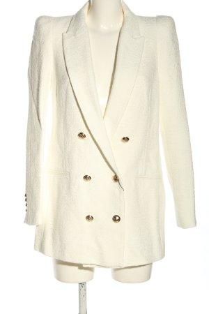 Zara Blazer lungo bianco sporco stampa integrale stile casual