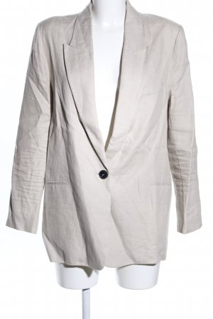 Zara Long-Blazer hellgrau Casual-Look