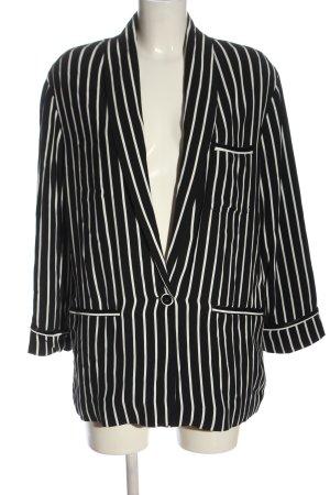 Zara Long-Blazer schwarz-weiß Streifenmuster Elegant