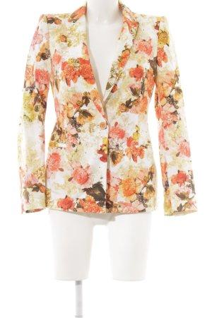 Zara Long-Blazer Blumenmuster Elegant