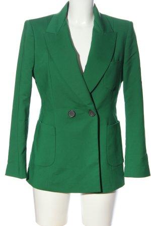 Zara Long-Blazer grün Casual-Look