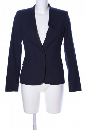 Zara Long-Blazer blau Karomuster Business-Look