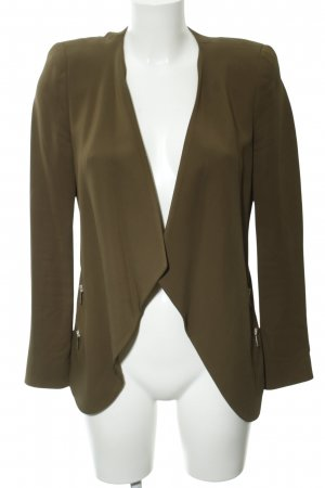Zara Long-Blazer olivgrün Business-Look