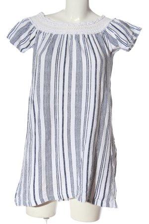Zara Long-Bluse weiß-schwarz Allover-Druck Casual-Look