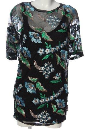 Zara Long-Bluse Blumenmuster Elegant