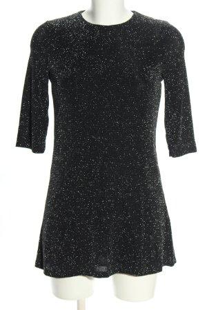 Zara Longshirt schwarz meliert Casual-Look