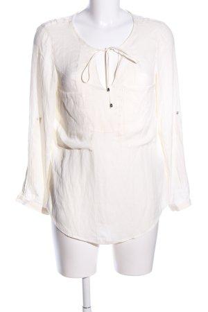 Zara Long-Bluse wollweiß Business-Look