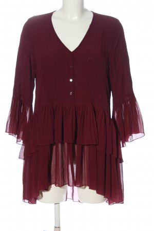 Zara Long-Bluse rot Business-Look