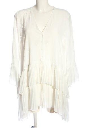 Zara Blusa larga crema look casual