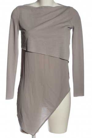 Zara Long-Bluse braun meliert Casual-Look