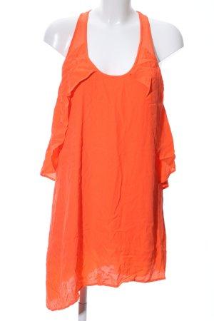 Zara Lange blouse licht Oranje casual uitstraling
