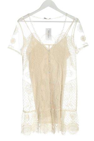 Zara Long-Bluse creme Elegant