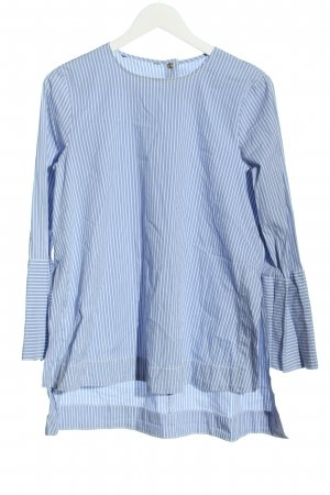 Zara Long-Bluse blau-weiß Streifenmuster Casual-Look