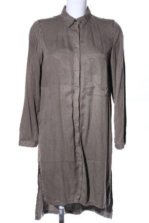 Zara Long-Bluse braun Business-Look