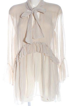 Zara Long-Bluse wollweiß Casual-Look