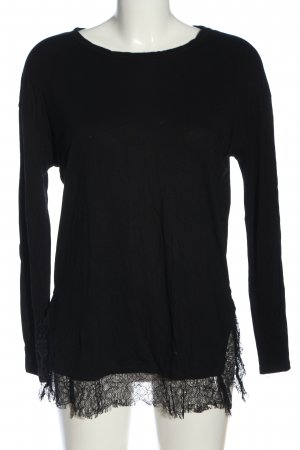 Zara Long-Bluse schwarz Casual-Look