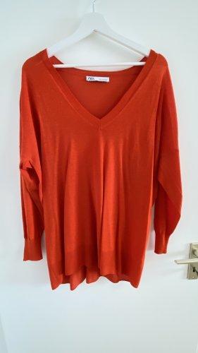 Zara Long-Pullover Gr. S