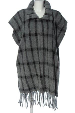 Zara Długi sweter bez rękawów jasnoszary Wzór w kratkę W stylu casual